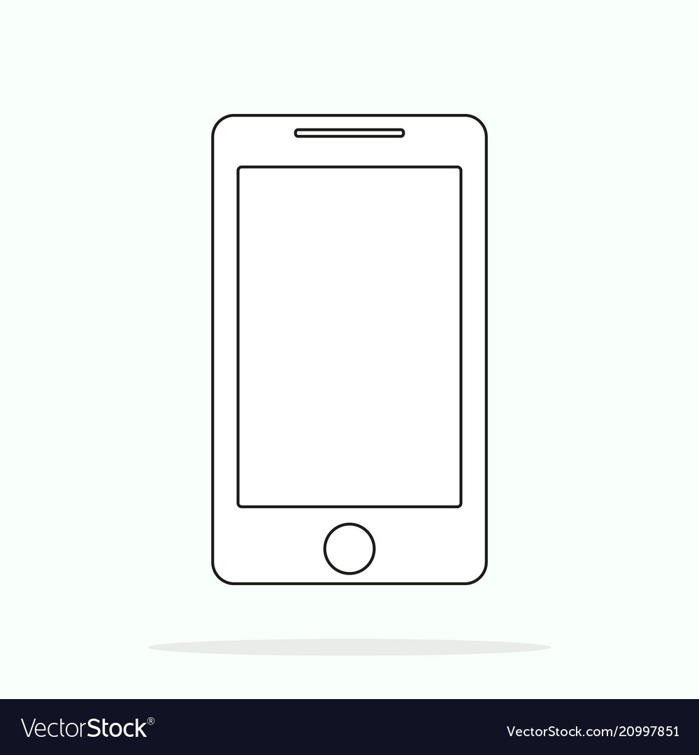 Smartphone line outline style