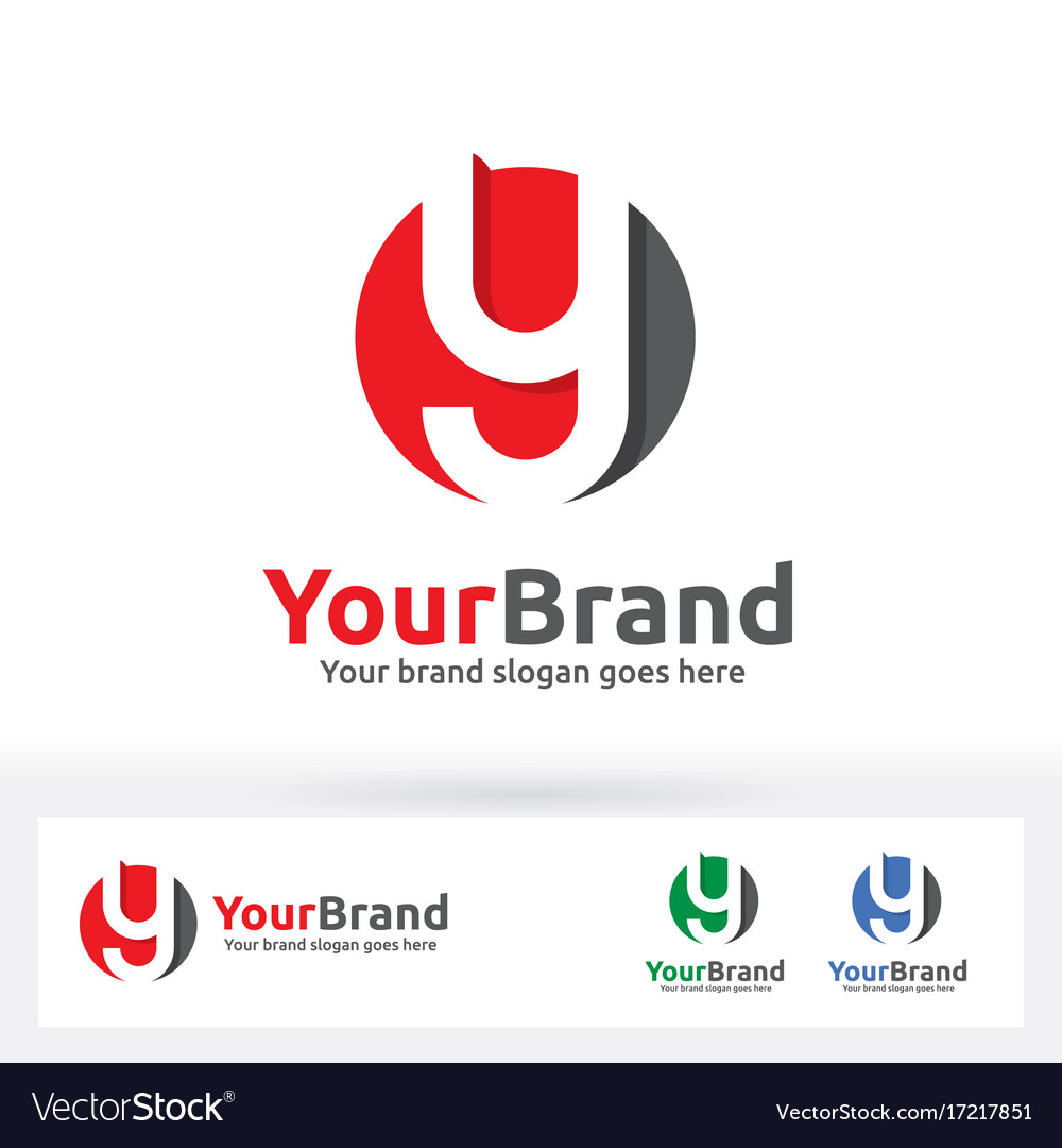 Y letter logo y letter in a circle badge
