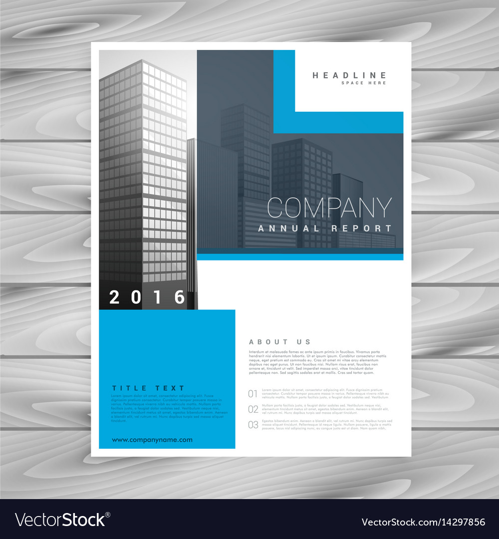 business brochure design in simple shapes vector image