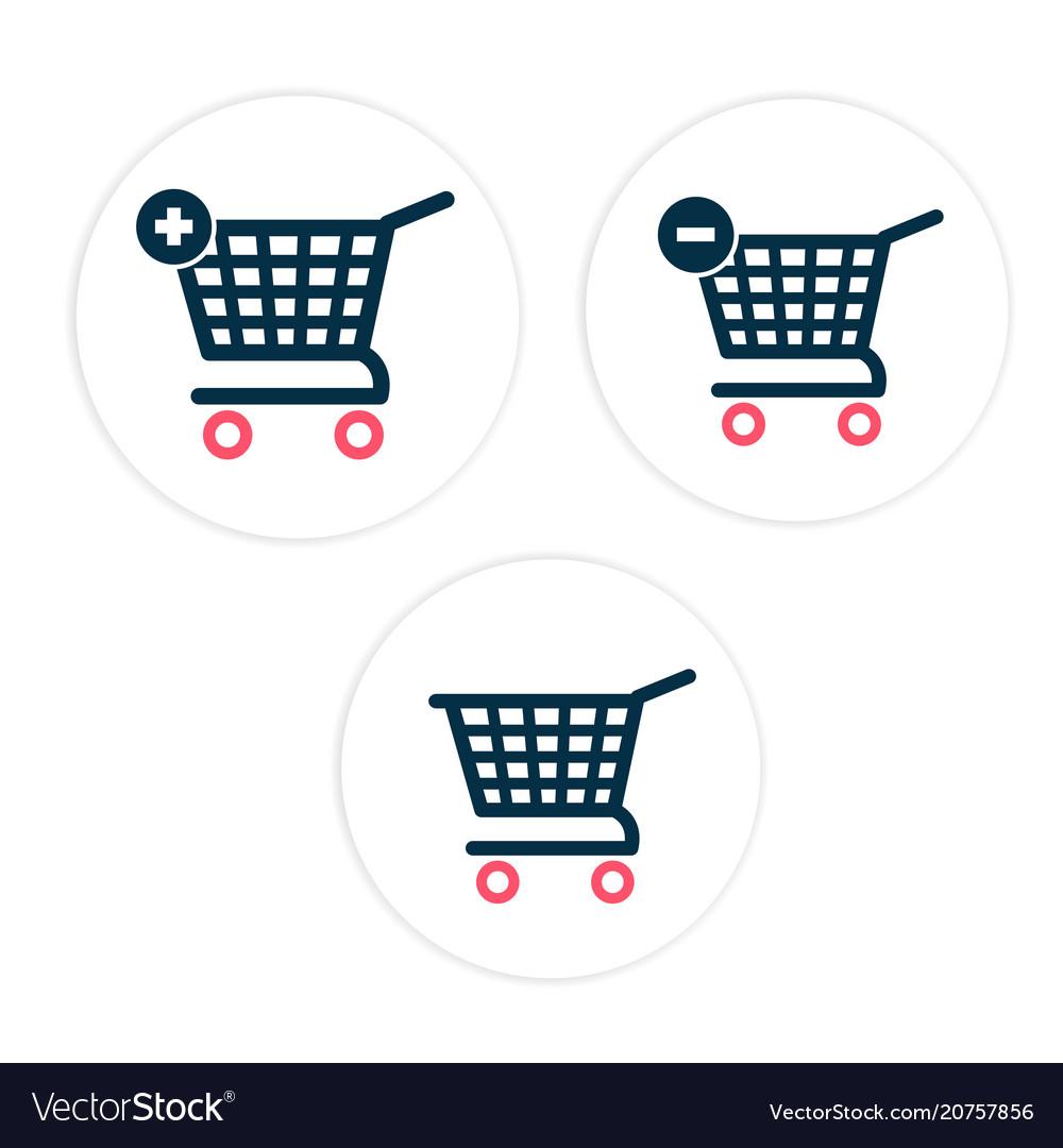 Cart set icon circle frame background image
