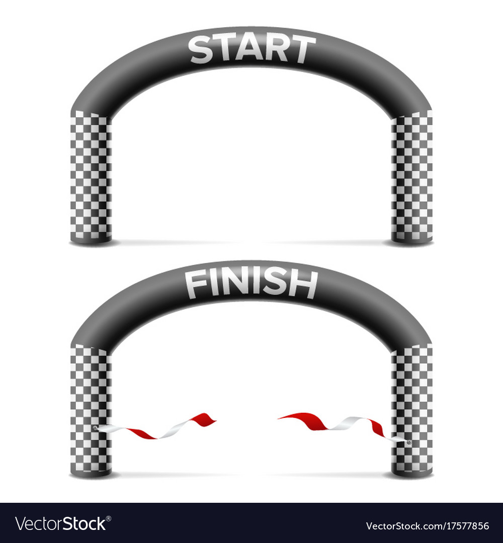 Finish start line arch isolated sport