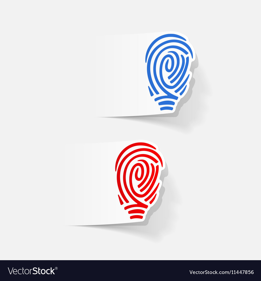 Realistic design element fingerprint vector image on VectorStock