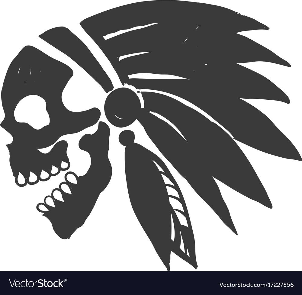 Tattoo indian skull