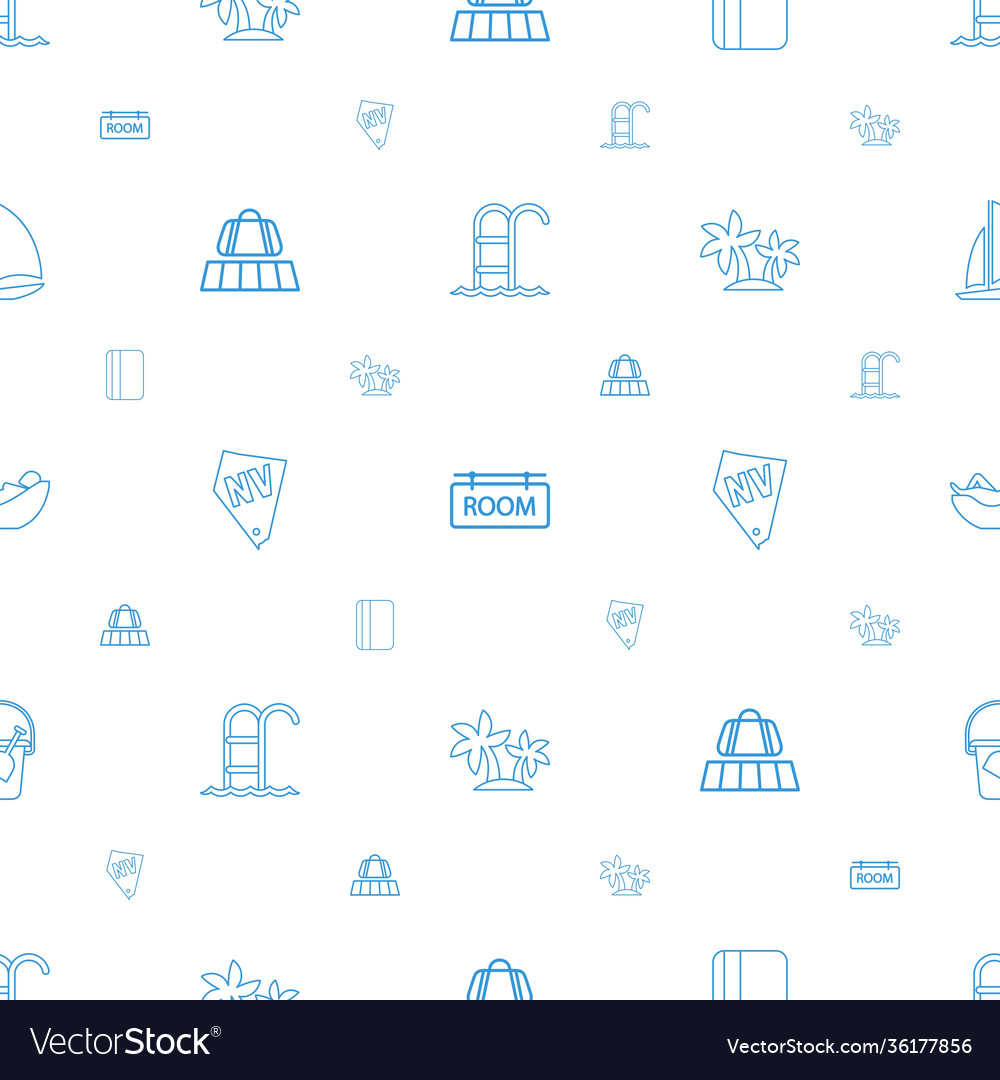 Vacation icons pattern seamless white background