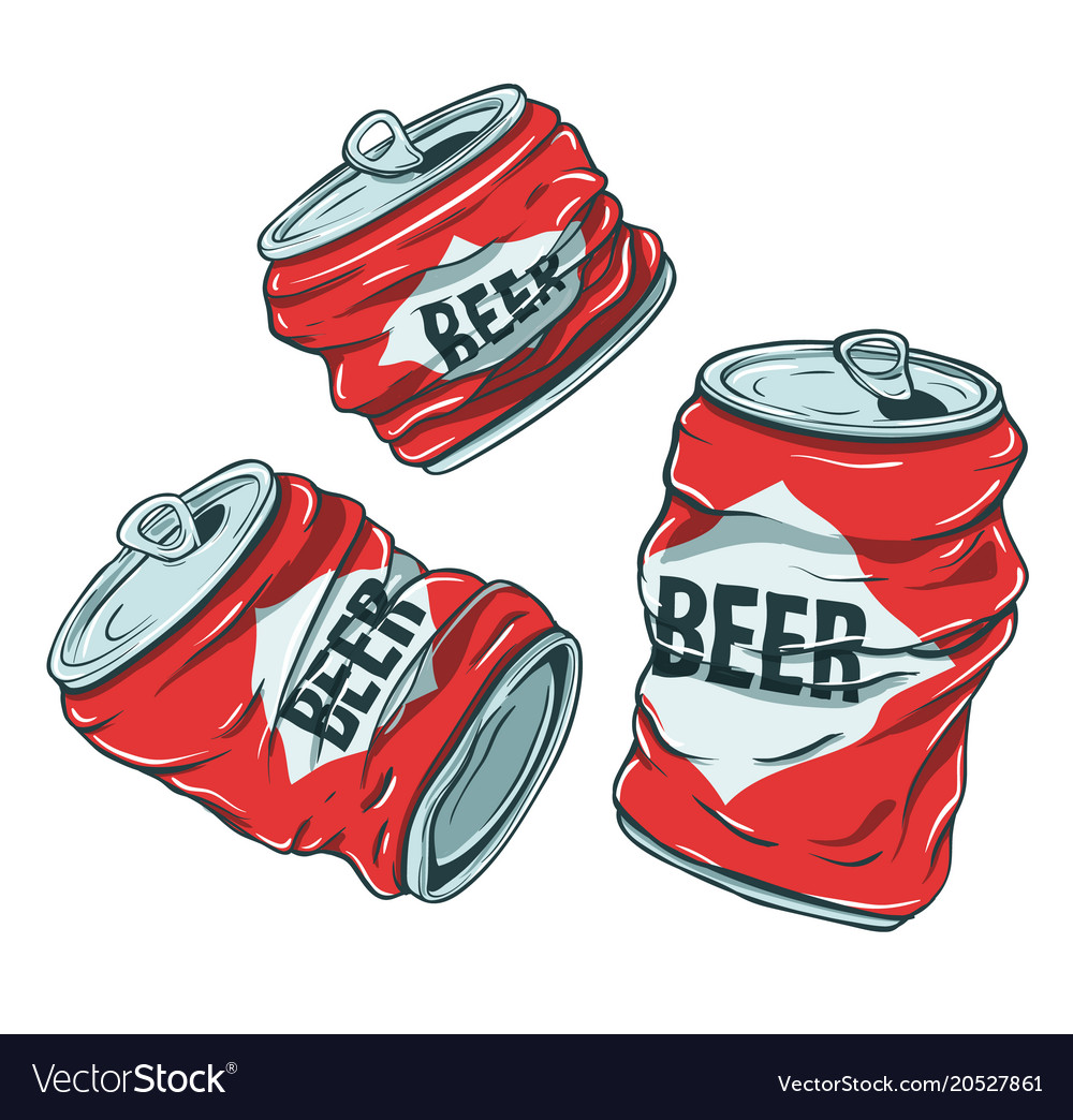 Beer cans on white vector image