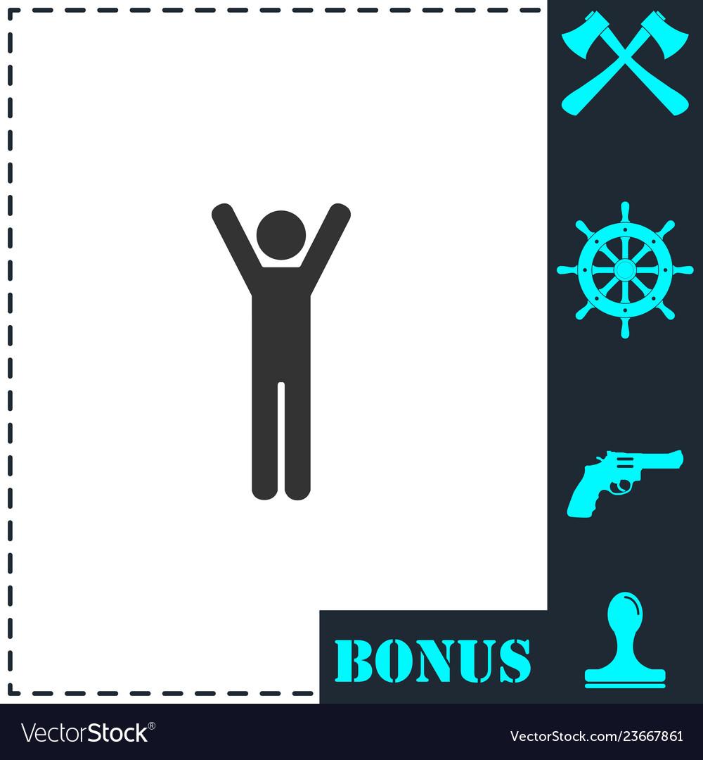 Man icon flat