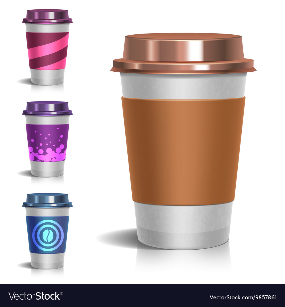 Realistic paper take-out coffee cup