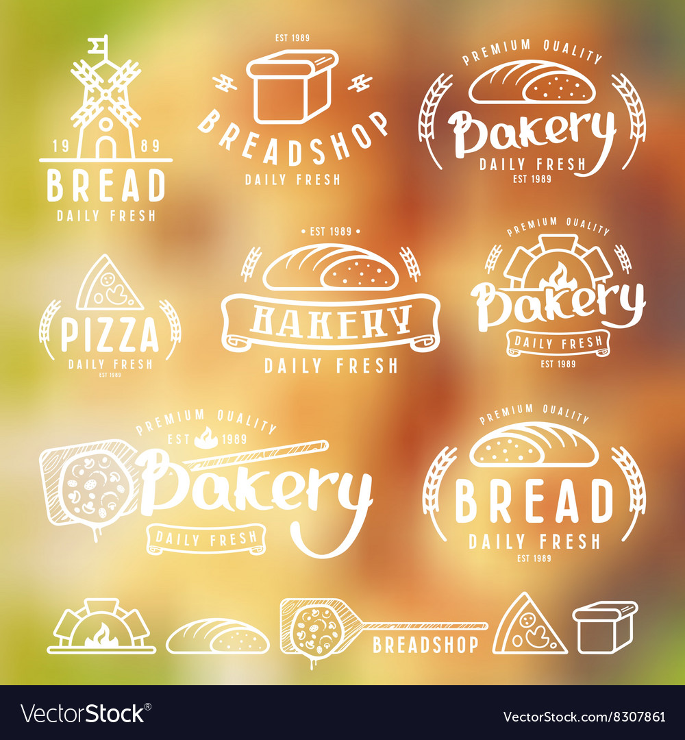Set of bakery labels badges and design elements