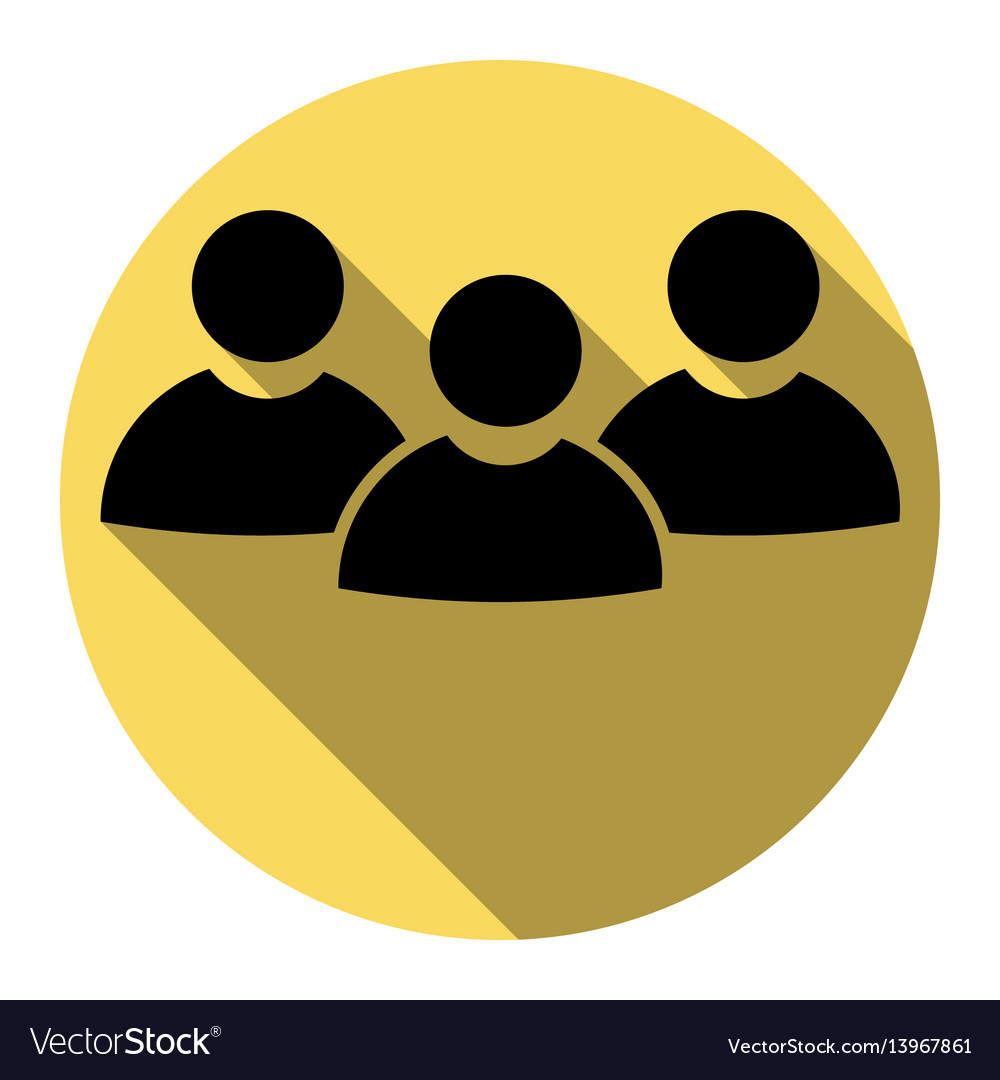 Team work sign flat black icon with flat