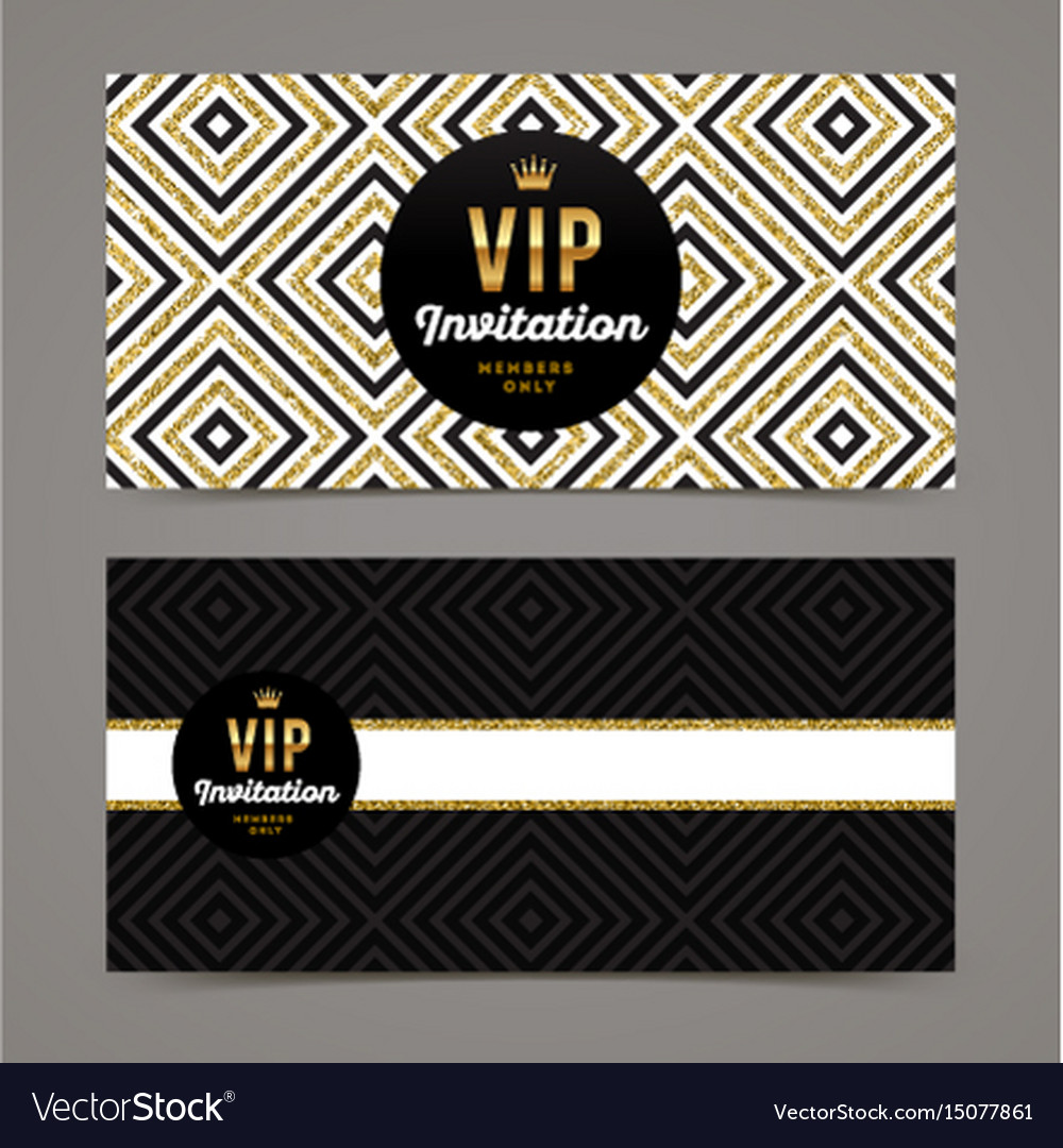 Template design for vip invitation royalty free vector image template design for vip invitation vector image stopboris Gallery