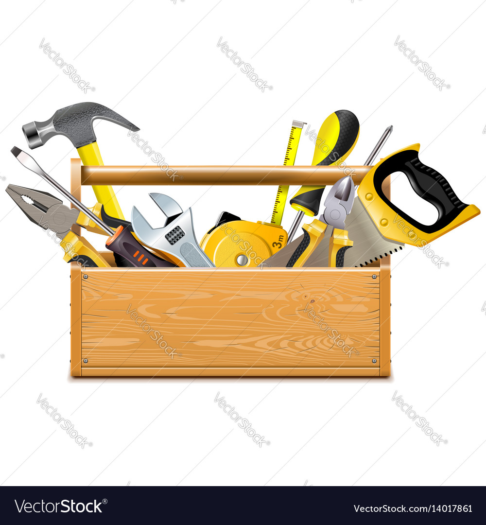 Toolbox with instruments