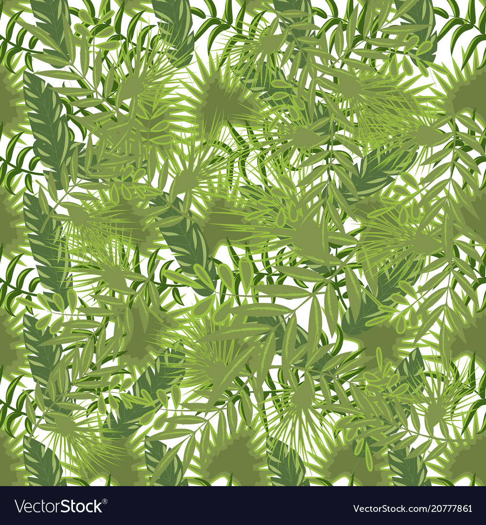 Tropical pattern palm summer green palm leaves