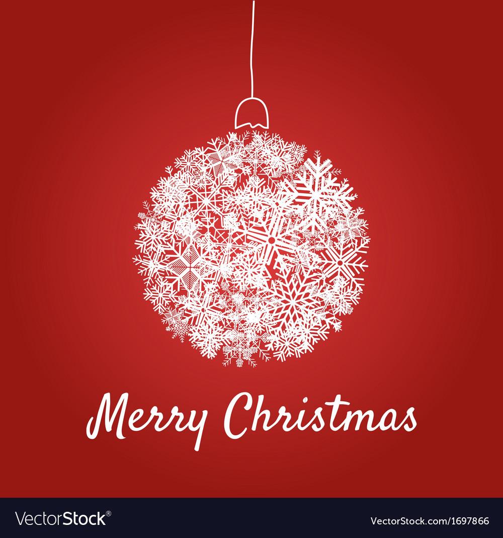 Christmas card with a ball vector image