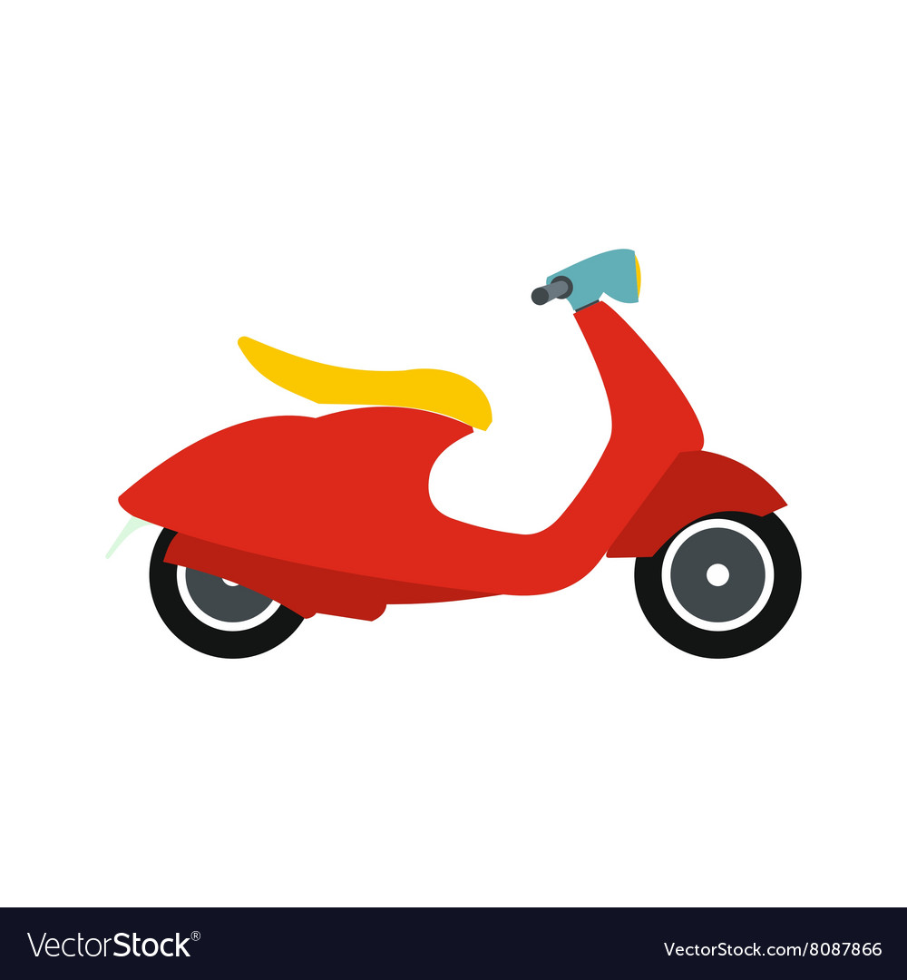 Classic scooter icon flat style