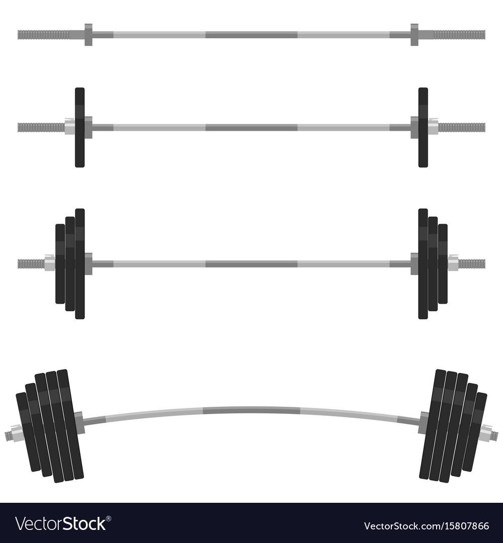 Fitness design elements gym emblem barbells vector image