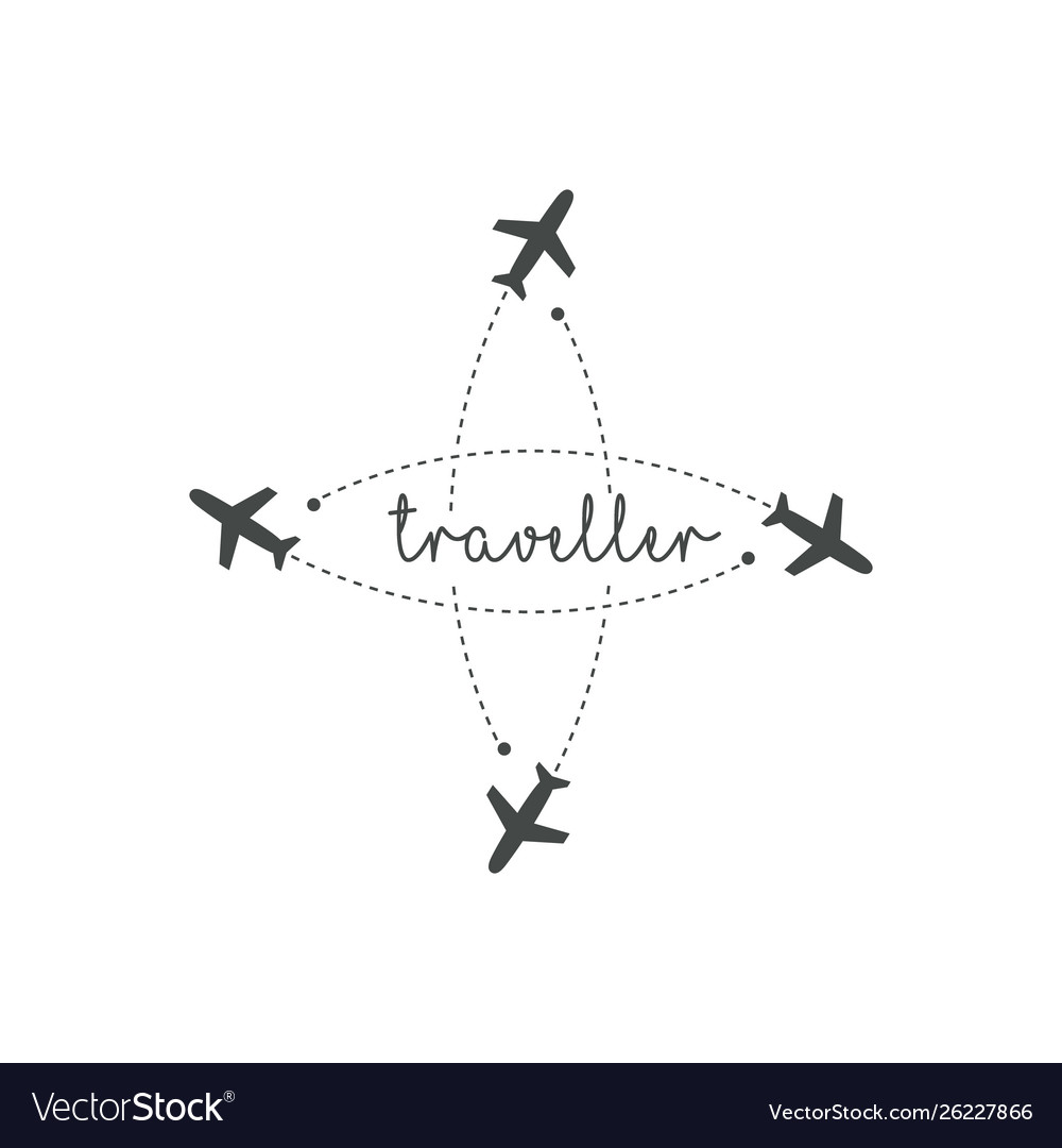 Traveller logo concept lettering traveler with