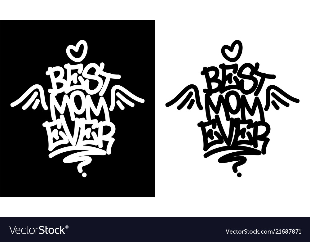 Best mom ever tag in black over white and white