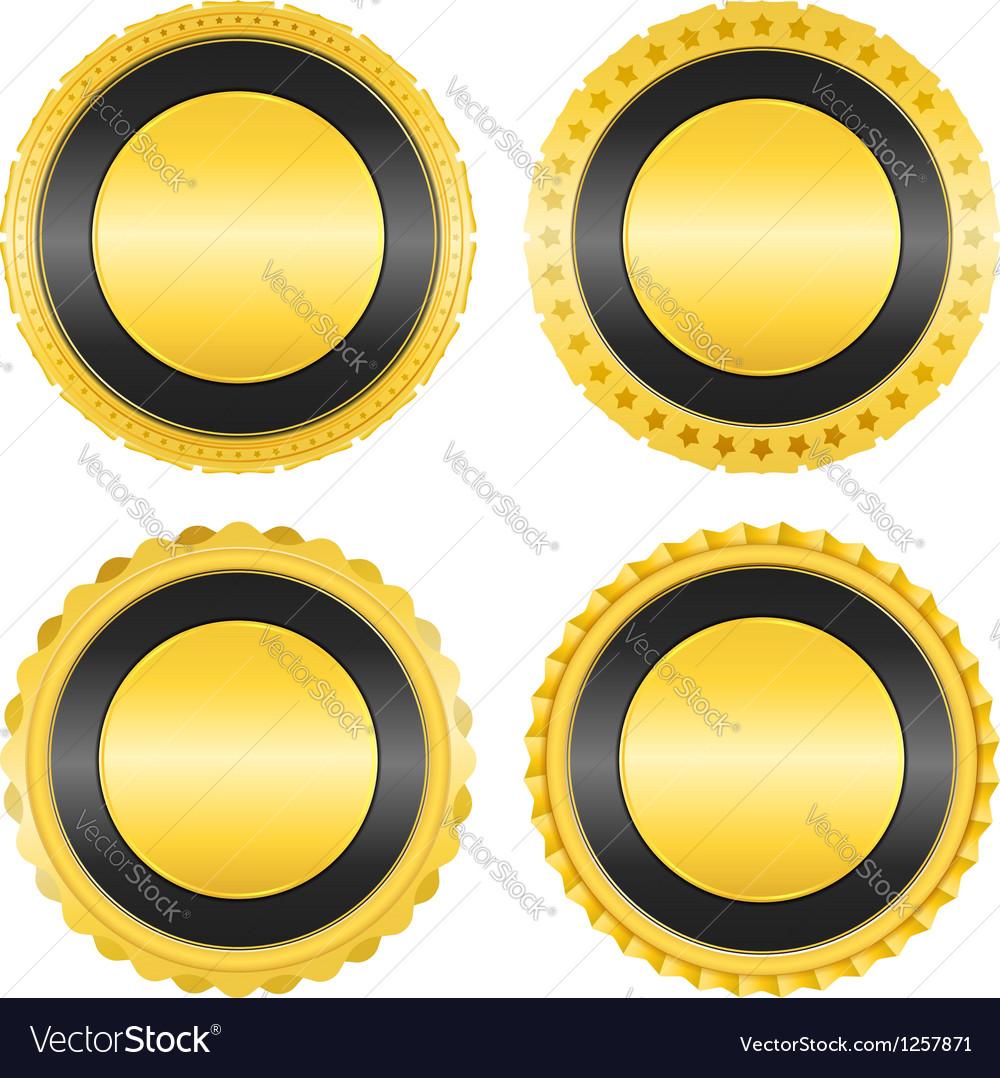 Blank Golden Badges
