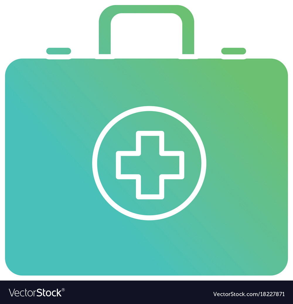 Contour briefcase with medical cross symbol