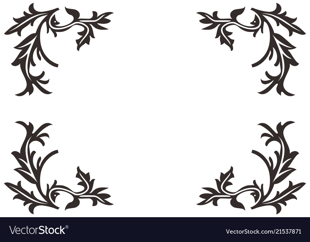 Floral background element logo
