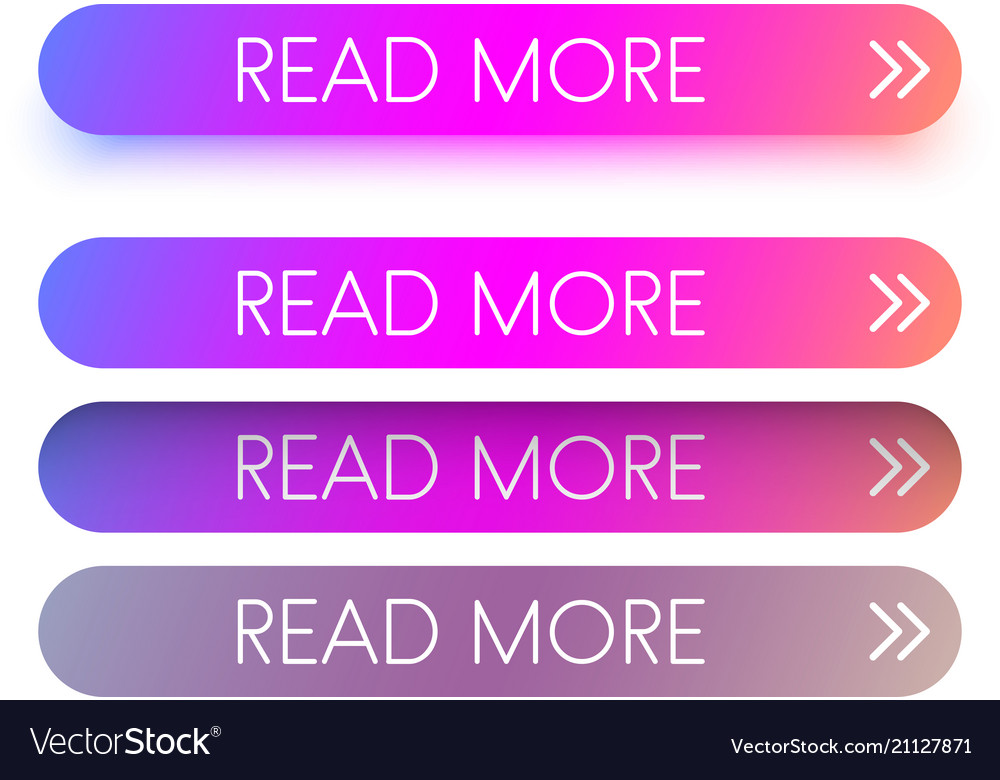 Pink spectrum read more web buttons isolated on