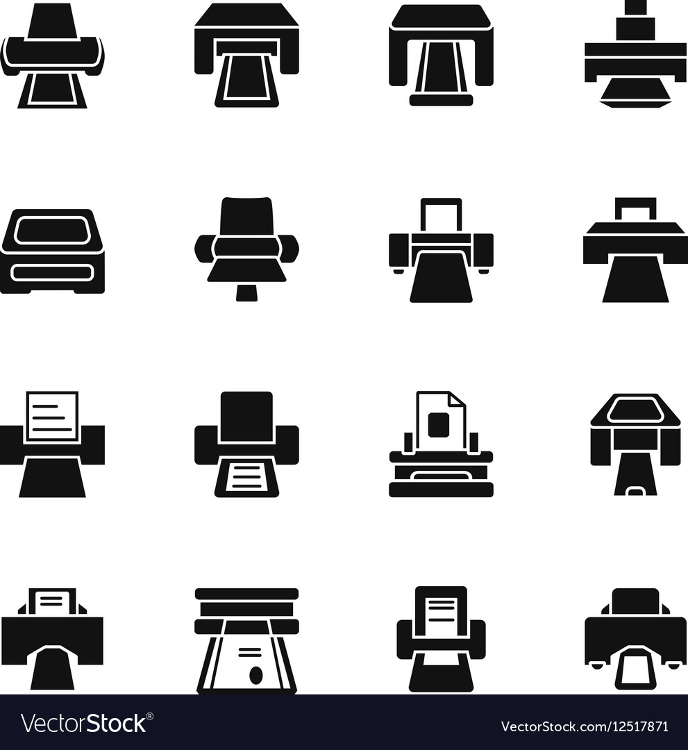 Print icons and printing documents signs vector image