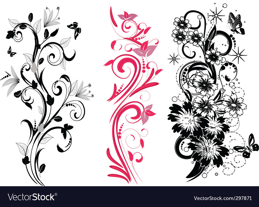 Set of different patterns vector