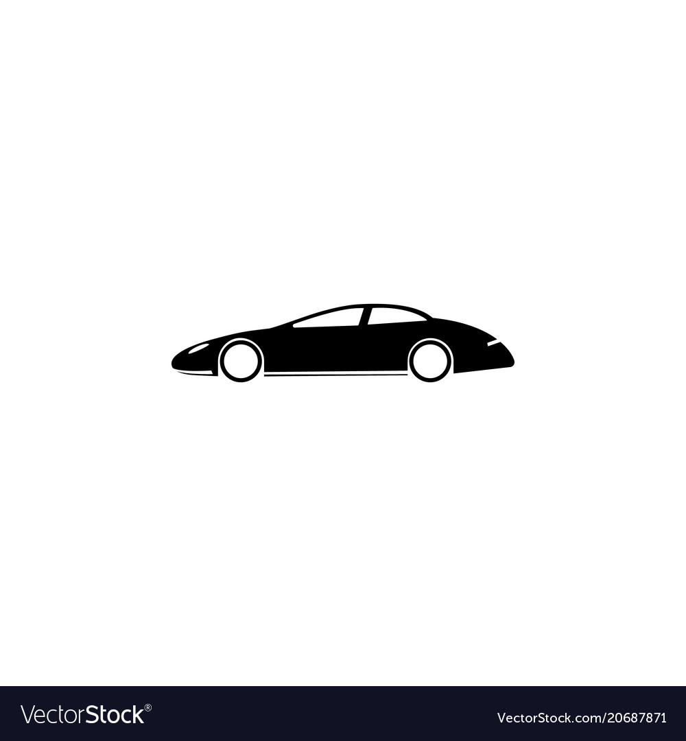 Sports car icon element of popular car icon