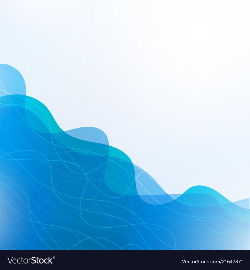 Wavy geometric background