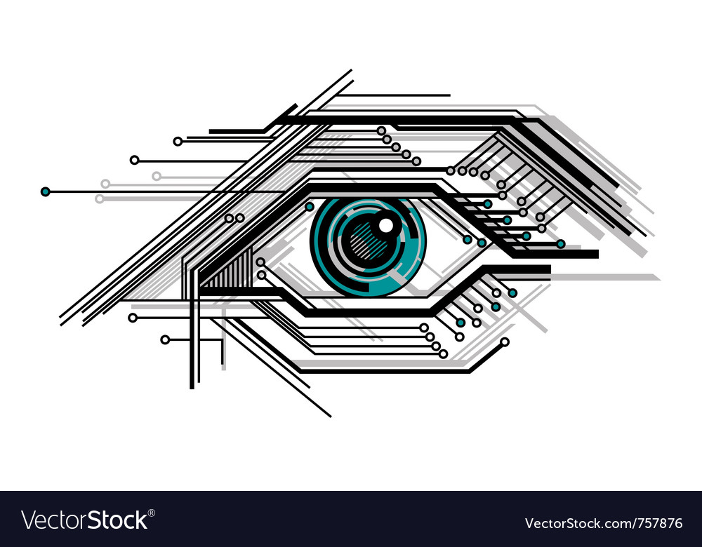 Abstract conceptual tech stylized eye