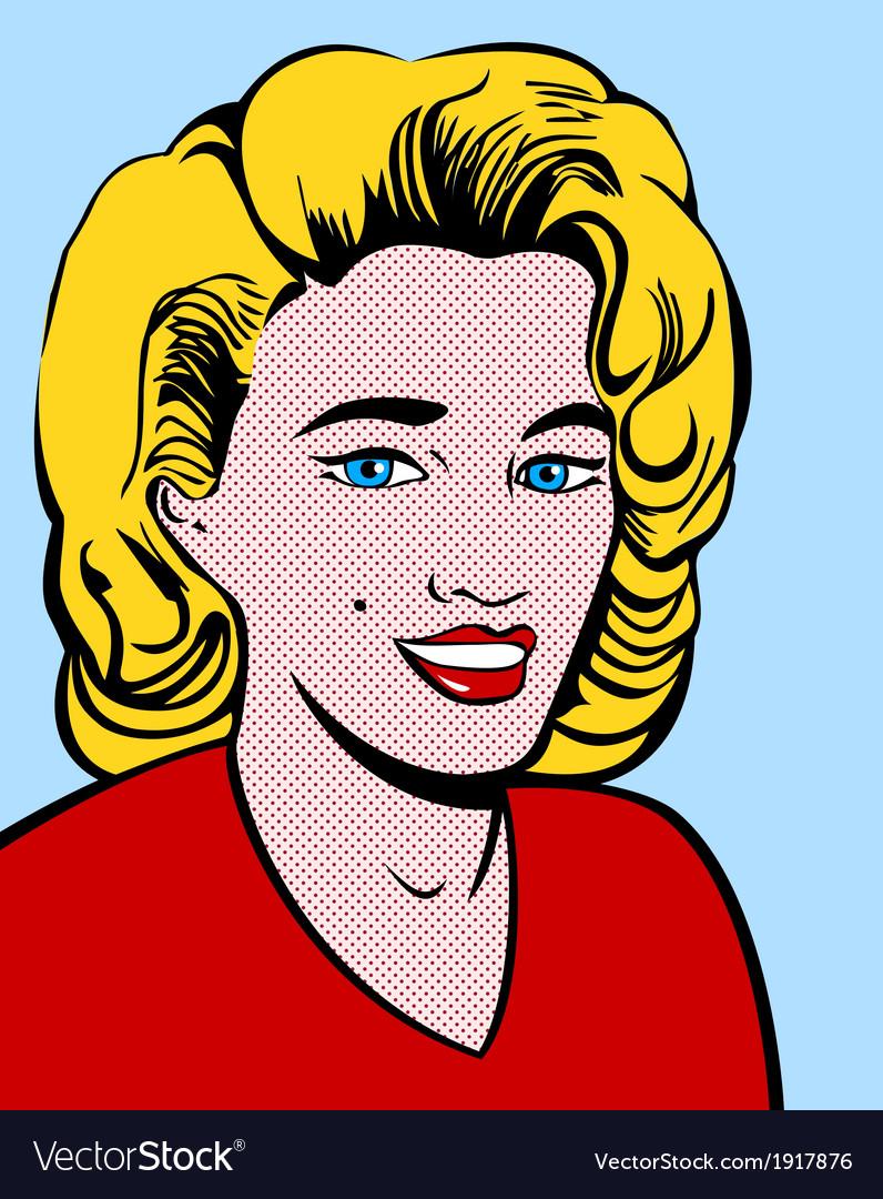 Blond pop art woman