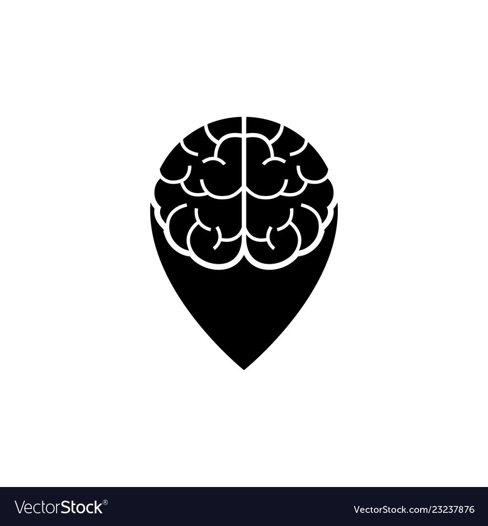 Brain point place logo design template