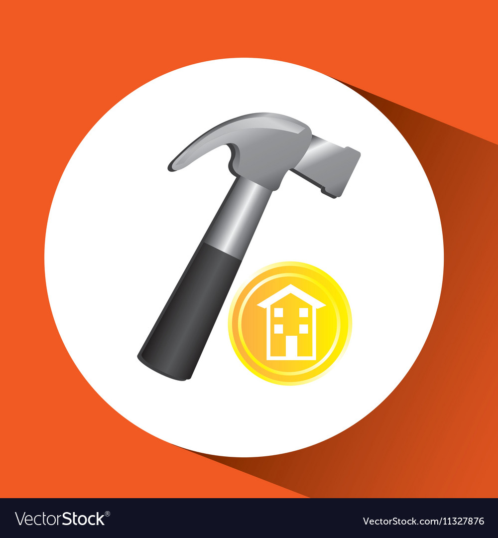 Construction remodel screw icon graphic