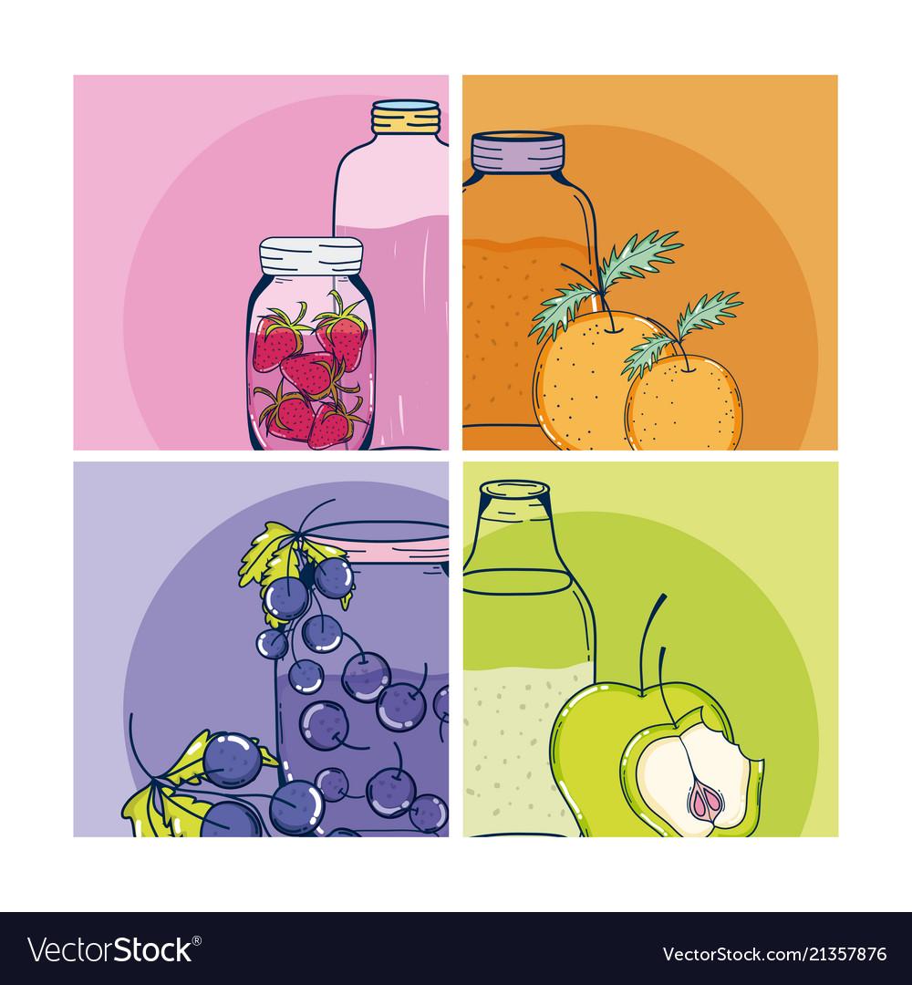 Fruit juice cards
