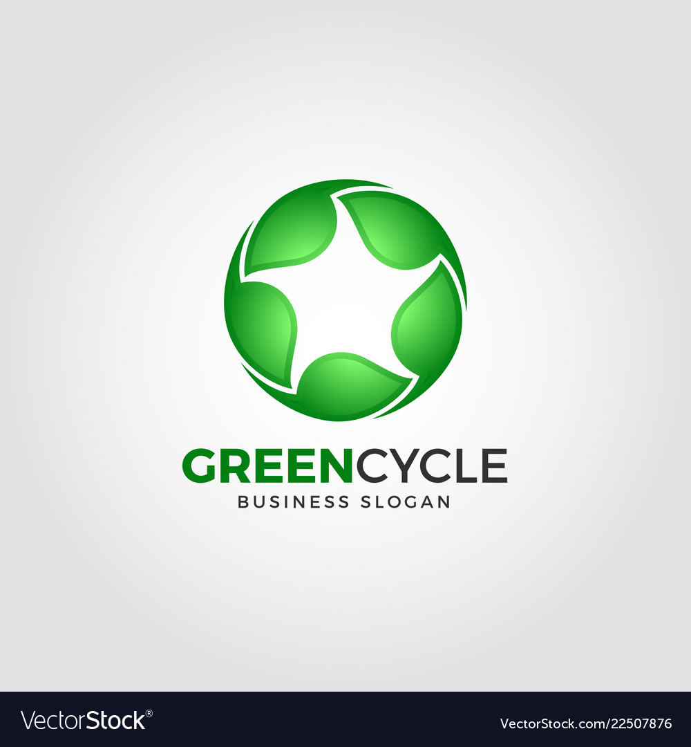 Green cycle - nature green leaf logo