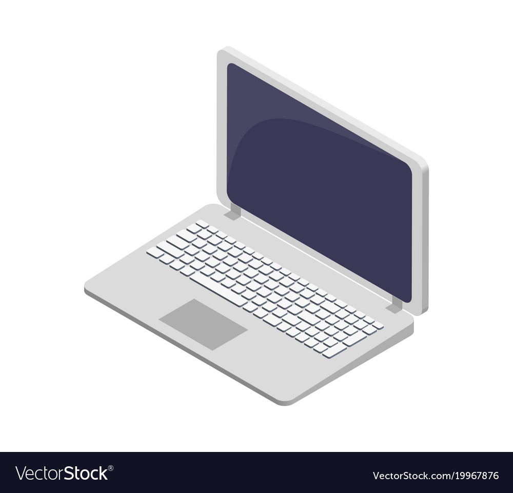 Modern laptop electronic device symbol