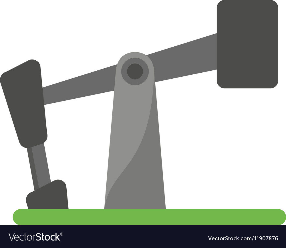 Oil pump drilling petroleum industry vector image
