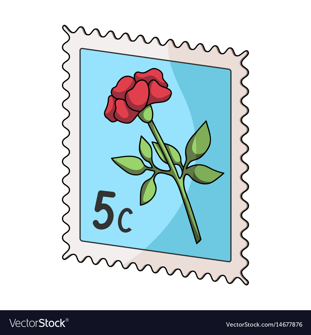 Postage stampmail and postman single icon in