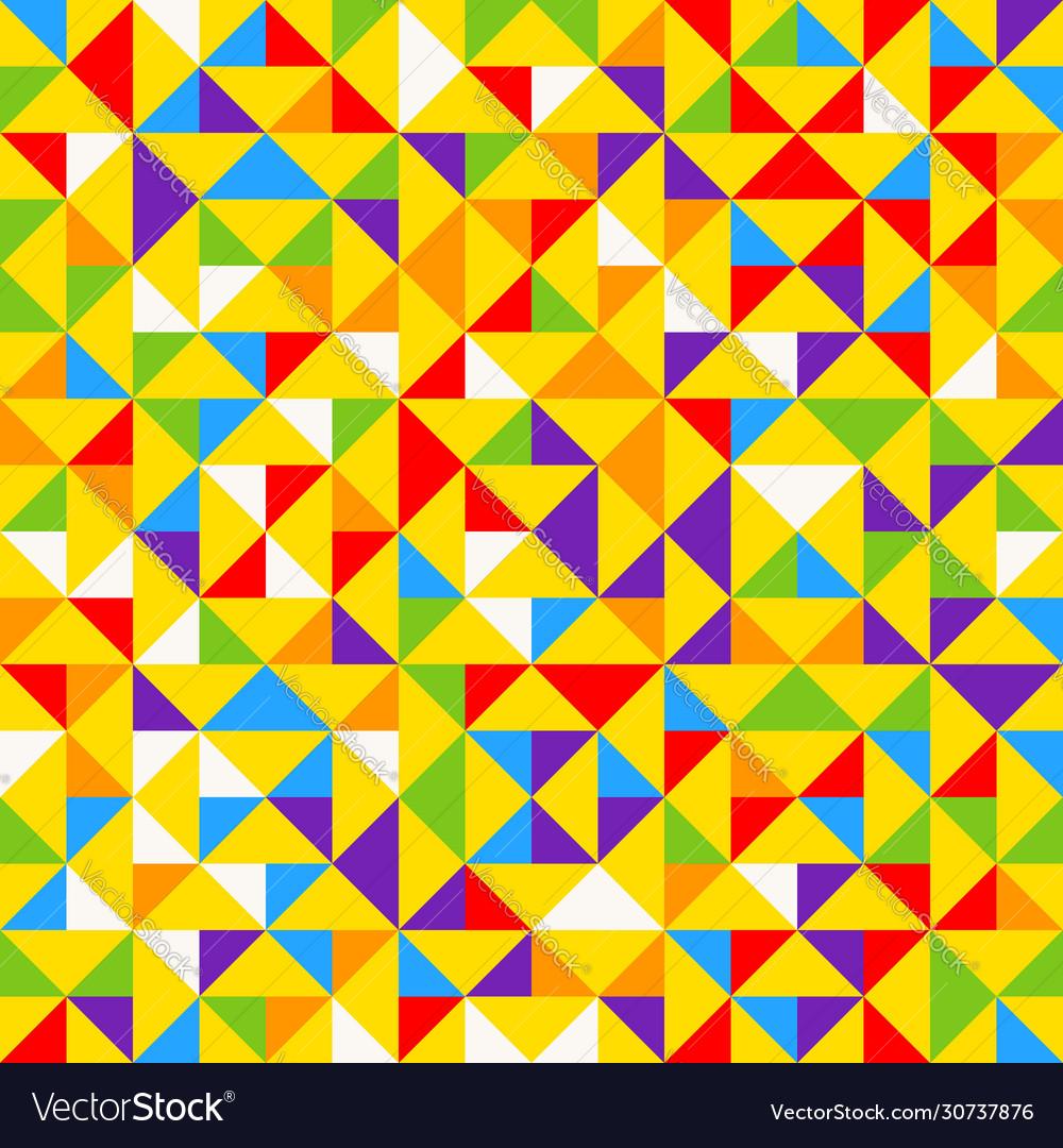 Rainbow mosaic tiles abstract geometric