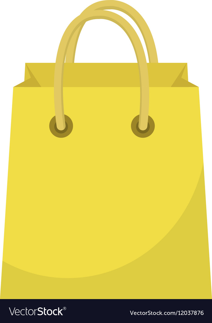 Shopping bag icon flat style Paper bags isolated