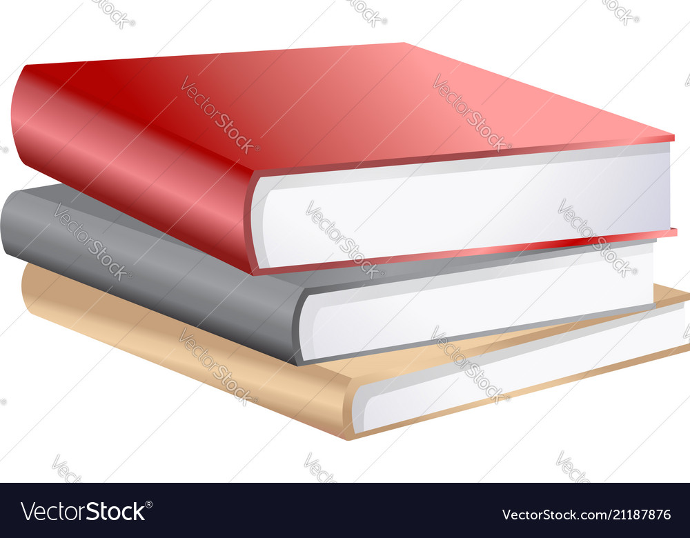Stack books isolated on white