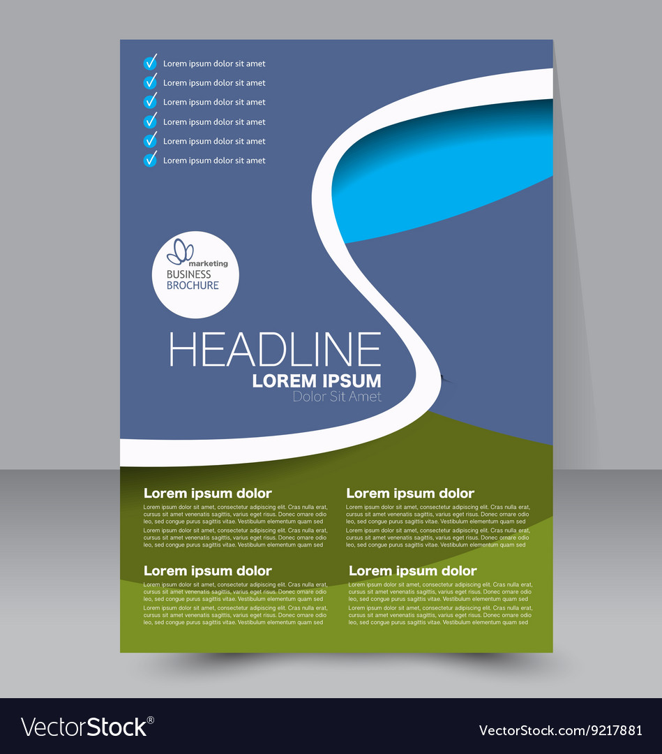 brochure template business flyer royalty free vector image