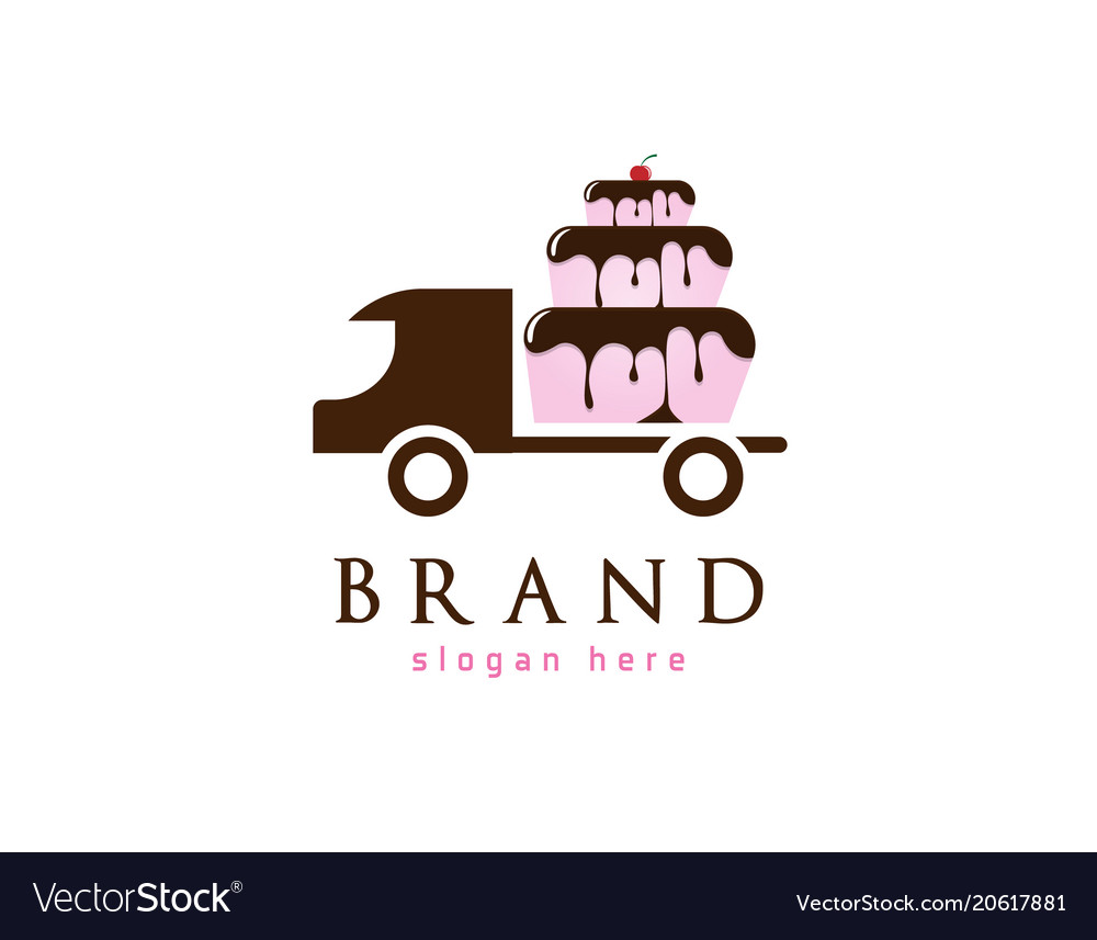 Cake Delivery Logo Vector Image