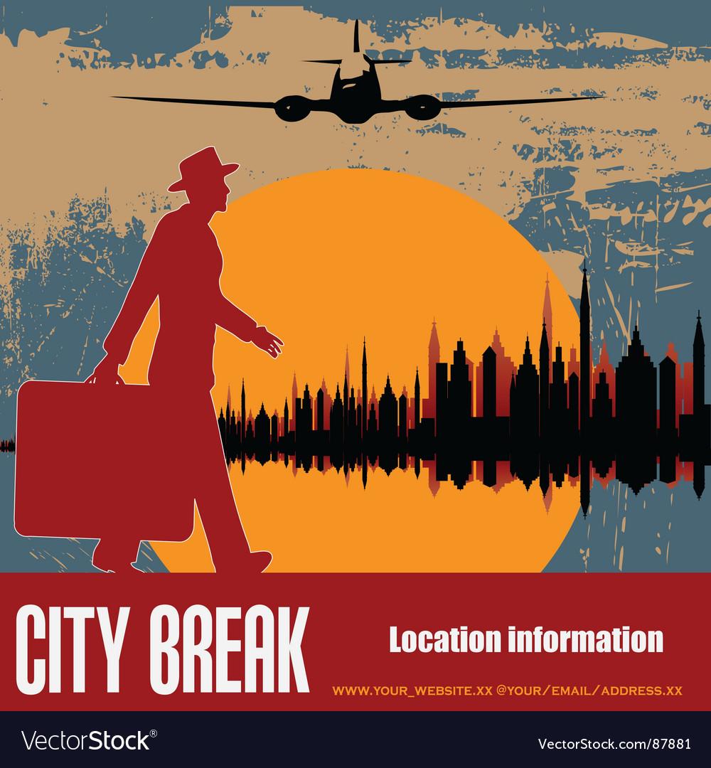 City break vector image