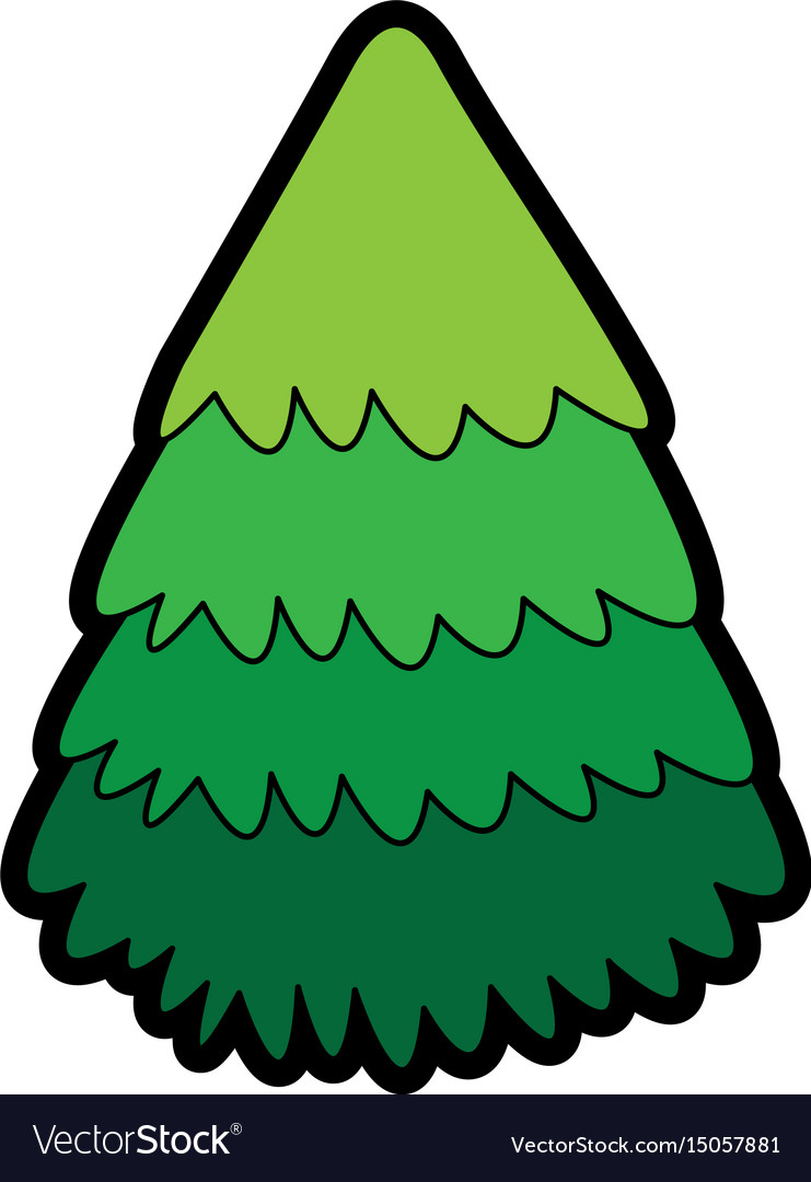 Cute christmas tree cartoon