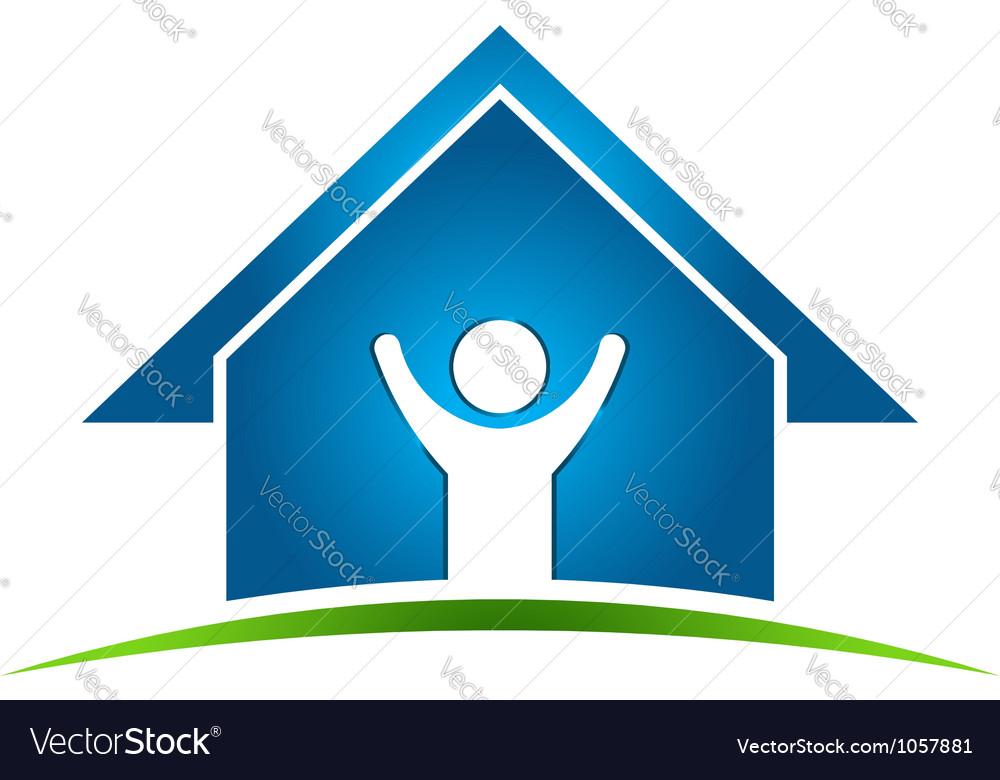 Happy Man in House vector image
