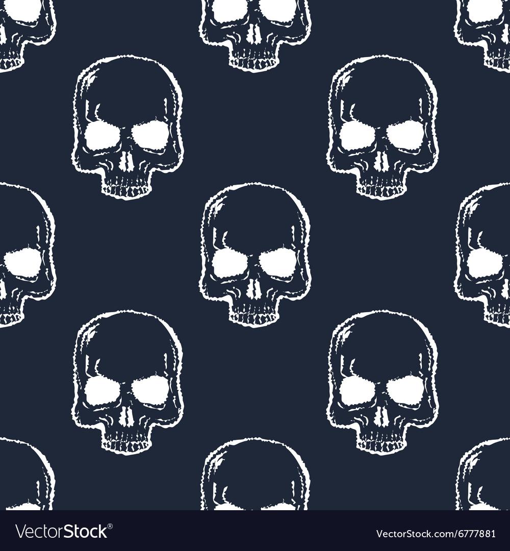 Human Skull Seamless Pattern