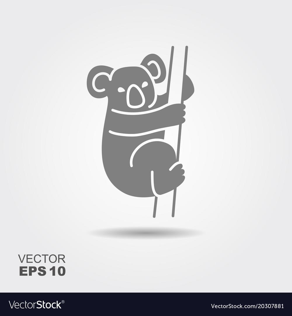 Koala flat icon