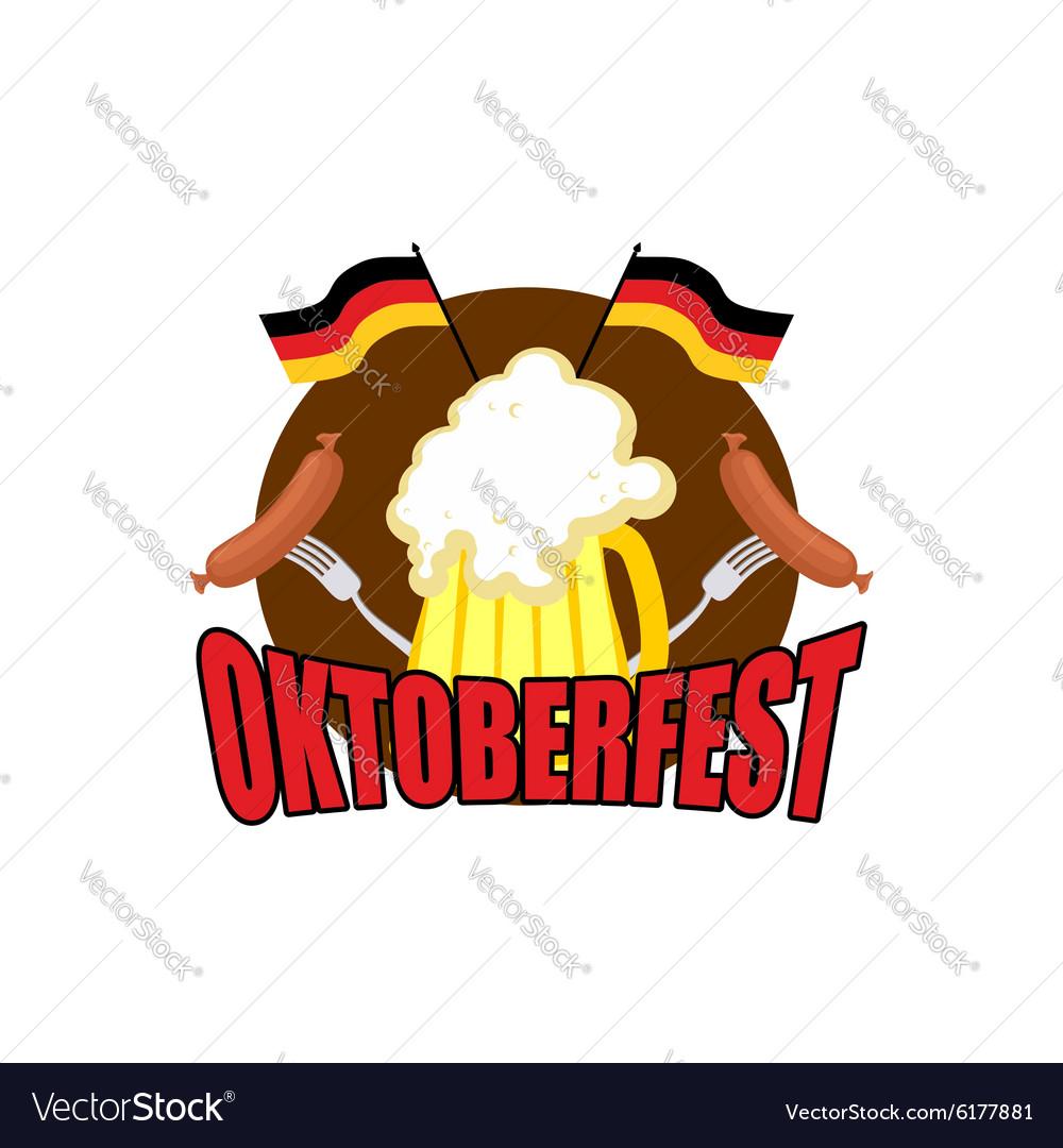 Oktoberfest logo Beer Festival in Germany