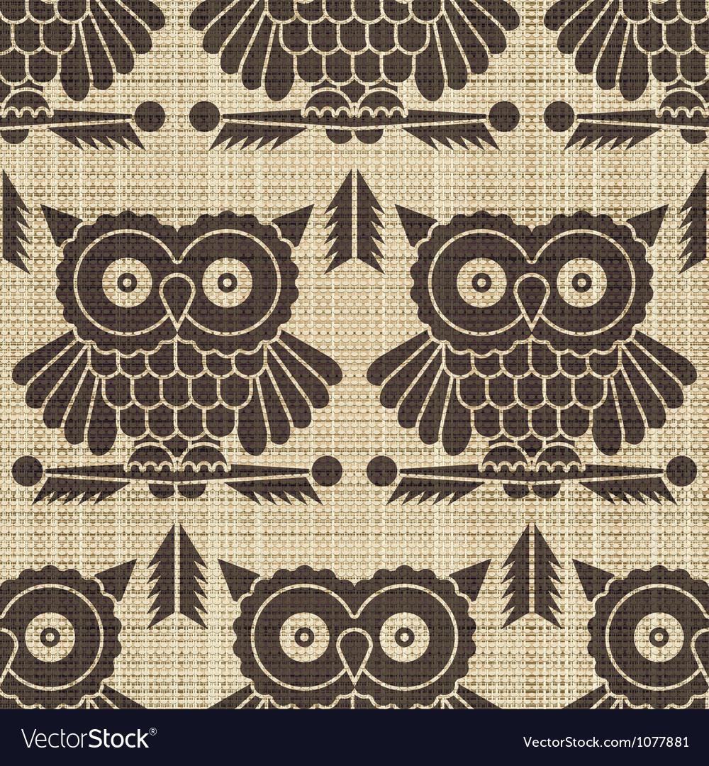 Owls print vector image